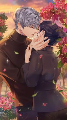 Romantic Anime Couples, Fantasy Couples, Romantic Manga, Cute Anime Couples, Anime Couples Drawings, Anime Couples Manga, Anime Guys, Anime Wallpaper Live, Anime Scenery Wallpaper