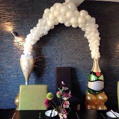 Celebration balloon arch
