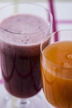 RECEITA THERMOMIX: Suco de laranja, mirtilo e gengibre