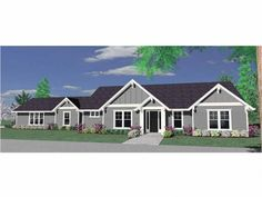 Floor Plan AFLFPW12392 is a beautiful 1797 square foot  Traditional  home design with 4 Garage Bays