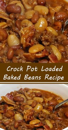 Baked Beans Crock Pot, Crockpot Dishes, Crock Pot Slow Cooker, Crock Pot Cooking, Healthy Crockpot Recipes, Slow Cooker Recipes, Cooking Recipes, Keto Recipes, Dinner Recipes