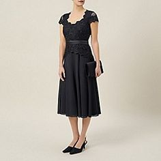 A-Line/Princess Scalloped Tea-length Chiffon Lace Mother of the Bride Dress Cocktail Dresses Online, Evening Dresses Online, Cheap Evening Dresses, Womens Cocktail Dresses, Evening Gowns, Dress Online, Evening Party, Mob Dresses, Casual Dresses