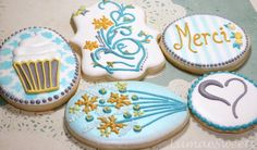 """""""Merci"""" Hostess Cookies   Cookie Connection #cupcake #flower #cookie"""