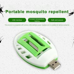 Mosquito Killer Electric Summer Insect USB Green+White Electric Mosquito Repeller Repellent Plastic Pest Control Sleep Home Mosquito Repellent Device, Natural Pesticides, Mosquito Killer, Usb, Beneficial Insects, Organic Matter, Plant Species, Pest Control, Indoor