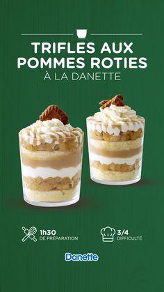 Plaisir et gourmandise garantis avec ce trifle à la Danette aux saveurs de Noël #Danette #Recette #noel