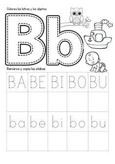 Free Kindergarten Worksheets, Science Worksheets, Tracing Worksheets, Preschool Learning Activities, Alphabet Worksheets, Teaching Kids, Spanish Lessons For Kids, Learning Spanish, 2 Kind