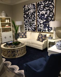 Blue & White Cuban style- The New Havana Collection at Stanley Furniture- available at Cabana Home Santa Barbara