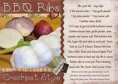 BBQ Ribs - crockpot recipe