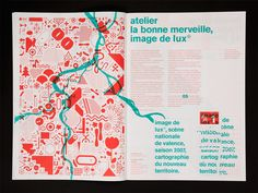 Commissioned by Jérôme Delormas, the new Lux director, art center in Valence, we map/design the 2007 season visual identity. First part of the season (january-july), first cartograph