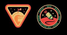 Space patches by Olly Moss