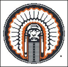 University of Illinois Indian - Counted Cross Stitch Chart Patterns. $4.99, via Etsy.