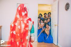 Gunjan & Karan's Fun Filled Maharashtrian Punjabi Fusion Wedding {Toronto, CA} Indian Wedding Poses, Indian Wedding Photography Poses, Bride Photography, Indian Wedding Bridesmaids, Punjabi Wedding, Bridesmaid Poses, Bridesmaid Pictures, Pre Wedding Photoshoot, Wedding Pictures