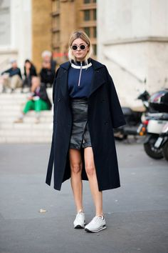 Camille Charrière Editor cape aside, this is simple, sporty, and a refreshing break from the street-style circus.  Photo: YoungJun Koo/I'M KOO