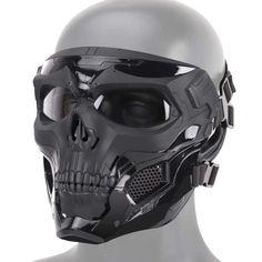 Buy MOGOI Airsoft Skull Mask, Full Face Protective Masks for Airsoft Paintball Outdoor Cs War Game BB Gun Halloween Skeleton Masks Party Cosplay Mask Movie Props Skeleton Mask, Skull Mask, Skull Helmet, Airsoft Face Mask, Paintball Mask, Mode Cyberpunk, Armadura Cosplay, Fast Helmet, Diy Masque