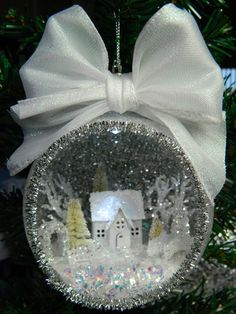 All mine designs, by Sharon smith, lighted ornament, papertrey ink, petite places home and garden die collection.