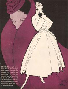 1950! Christian Dior. Rene Gruau.