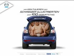 small but beautiful action. qr-code campaign for Schweizer Illustrierte Anniversary Mazda, Web Design, Baby Car Seats, Campaign, Anniversary, Coding, Action, Social Media, Concept