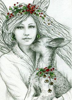 """Yule Fairy"" par Norma Burnell"