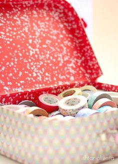 On my desk ♥ En mi mesa | Washi tape.. always inspiring to look at, what next use will I give them - Ishtar Olivera