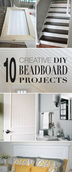 10 Creative DIY Beadboard Projects! • Have you ever realized what you can do with beadboard? Walls, door panels, backsplash, cabinet doors, ceilings and more!