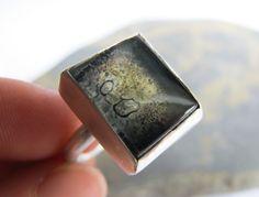 Enamelled handmade silver jewellery | Set glass ring | My handmade silver & enamel jewellery | Pinterest