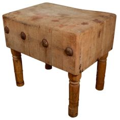 English Butcher Block from the early 19th Century | From a unique collection of antique and modern butcher blocks at http://www.1stdibs.com/furniture/more-furniture-collectibles/butcher-blocks/