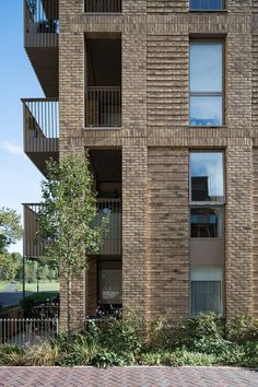 Catford Green | Glenn Howells Architects Architectural Design Studio, Brick Detail, Brick Paneling, Duplex Apartment, Metal Panels, Main Entrance, Facade Architecture, Master Plan, Facades