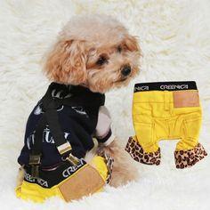 Leopard Pet Clothes Jeans Pants Dog Puppy