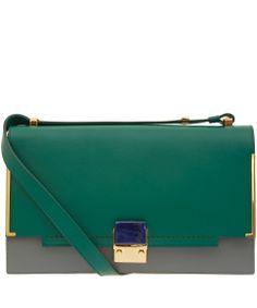 Lanvin Green Parion Calfskin Bag Bags By Liberty Co Uk
