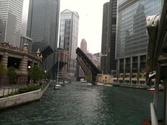 Chicago River - You should see its rich green color on St. Patrick's Day!
