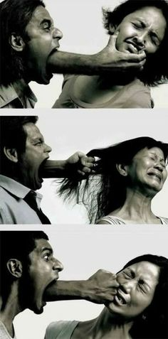 This is a picture of verbal abuse. Remember, it is as ugly and hurts just as much as physical abuse.