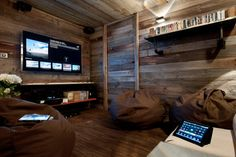 Alpine Technology - rustic - Home Theater - Other Metro - Inspired Dwellings