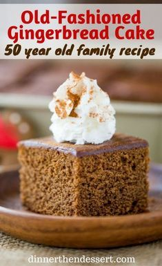 Classic Gingerbread Cake with a rich molasses, cinnamon and ginger flavor is fuss free and the perfect holiday breakfast. Also works great as part of your dessert table. Holiday Cakes, Christmas Desserts, Christmas Baking, Italian Christmas, Winter Desserts, Holiday Meals, Holiday Drinks, Christmas Cookies, Holiday Recipes