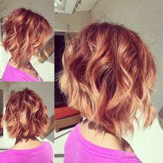 Raspberry to peach balayage #hairbynina
