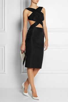 Dion Lee dress, Dominic Jones ring, Monica Vinader ring and rings, Gianvito Rossi shoes, Jil Sander clutch.