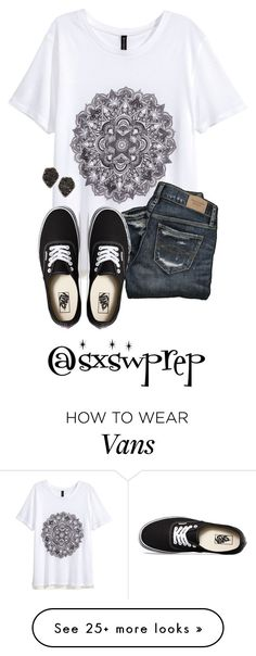 """""""""""To the world you may be just one person, but to one person you may be the world."""" -D.S."""" by sxswprep on Polyvore featuring H&M, Vans and Kendra Scott"""
