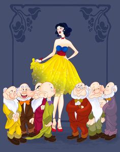 Snow White and the Seven Dwarves - | 14 Disney Couples Go To Prom
