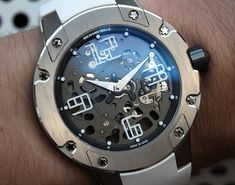 Richard Mille RM033 In White Gold Watch #luxurywatches