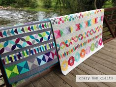 crazy mom quilts: baby row by row quilt--finished