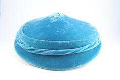 40's Vintage Hat Turquoise Blue Hat by pinebrookvintage on Etsy, $26.00