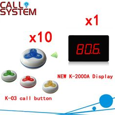164.85$  Watch now - http://ailuj.worlditems.win/all/product.php?id=32668379213 - Restaurant Wireless Service Call Waiter System Wireless Electronic Voice Durable Pager( 1 display+10 call button )