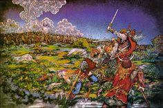 Jim Fitzpatrick   The Celtica Series - The Battle of Moira. 1980.