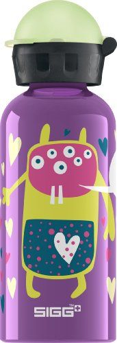SIGG Glo Monster Water Bottle Violet 04Liter * Click image to review more details.(This is an Amazon affiliate link and I receive a commission for the sales)