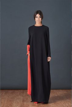 BOUGUESSA F/W15-16 Collection - Single Side Opening Viscose Abaya