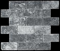 tumbled marble | trenton black #olympiatile