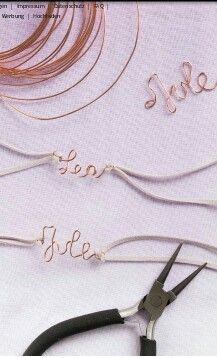 Wire wrapping names