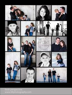 story board collage template for photographers digital