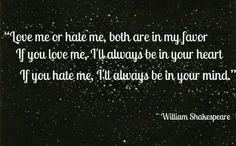 Love me, hate me