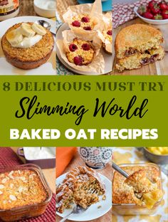 8 Must-Try Baked Oats Slimming World Recipes - The perfect way to start your day is with one of these amazing recipes. astuce recette minceur girl world world recipes world snacks Slimming World Flapjack, Slimming World Sweets, Baked Oats Slimming World, Slimming World Puddings, Slimming World Dinners, Slimming World Breakfast, Slimming World Recipes Syn Free, Slimming World Diet, Slimming Eats