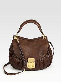 Miu Miu - Matelasse Coffer Messenger Bag